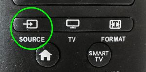 Source button on remote control