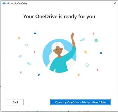 OneDrive account ready screen